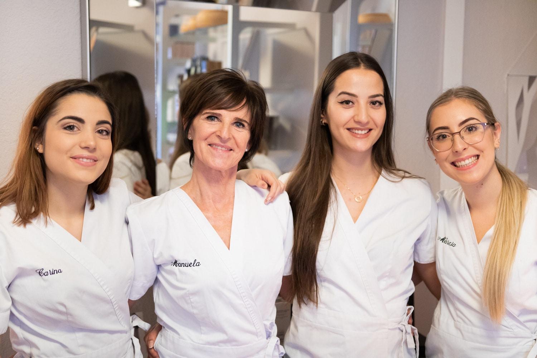 photo de l'équipe de l'institut de beauté manuela à Nyon